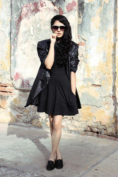 Black studded loafers & dress