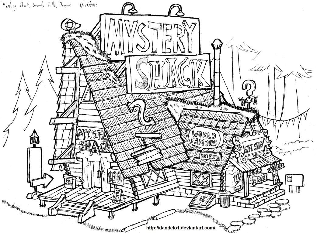 Coloring pages gravity falls