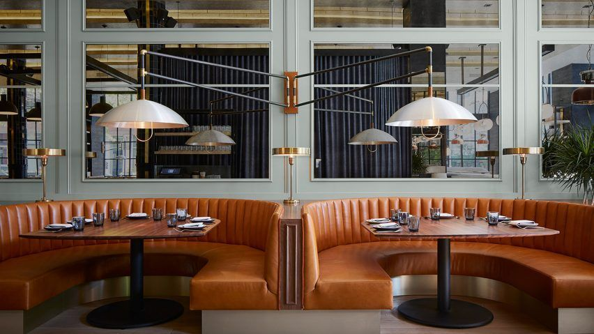 Https Www Dezeen Com 2018 03 13 The Proxi Meyer Davis Chicago Restaurant Printing House Restauran Modern Restaurant Bar Design Restaurant Restaurant Design
