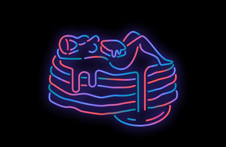 Hot Noods on Behance Neon signs, Illustration design