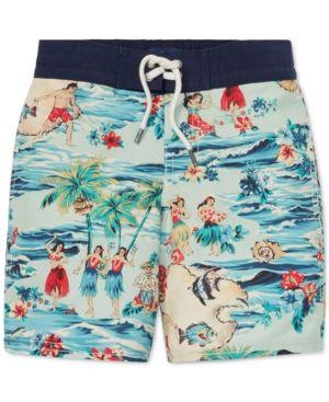 67aba401fb732 Polo Ralph Lauren Toddler Boys Sanibel Luau Swim Trunks - Luau 2/2T ...