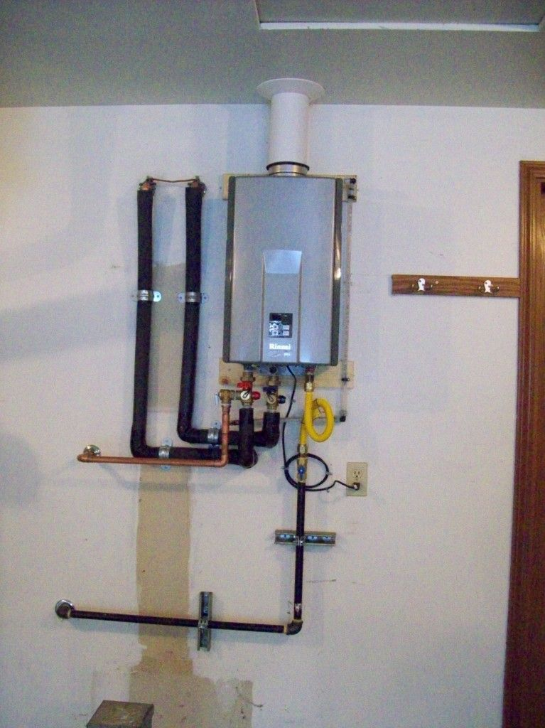 Rinnai Tankless Diy Plumbing Water Heater Installation