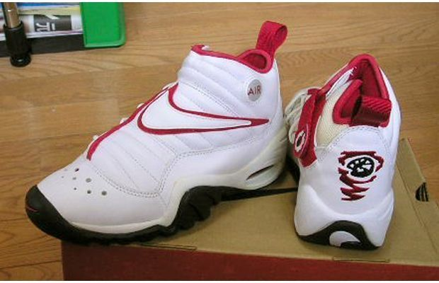 check out 9c235 675e5 Nike Air Shake Ndestrukt Year released  1996 Complex says  How do you match  a sneaker with a crazy-ass dude who dies his hair in tie-dye patterns