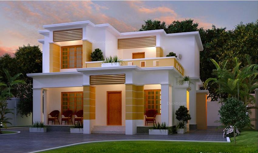 1: Exterior- big, made of local materials, windows | Indian ...
