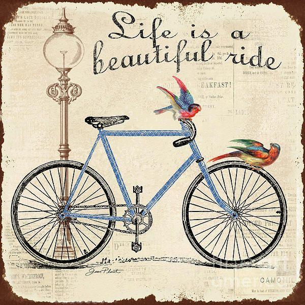Vintage bicycle digital download wall art Vintage printable bike riders illustration bicycle printable illustration Blue Bike Printable