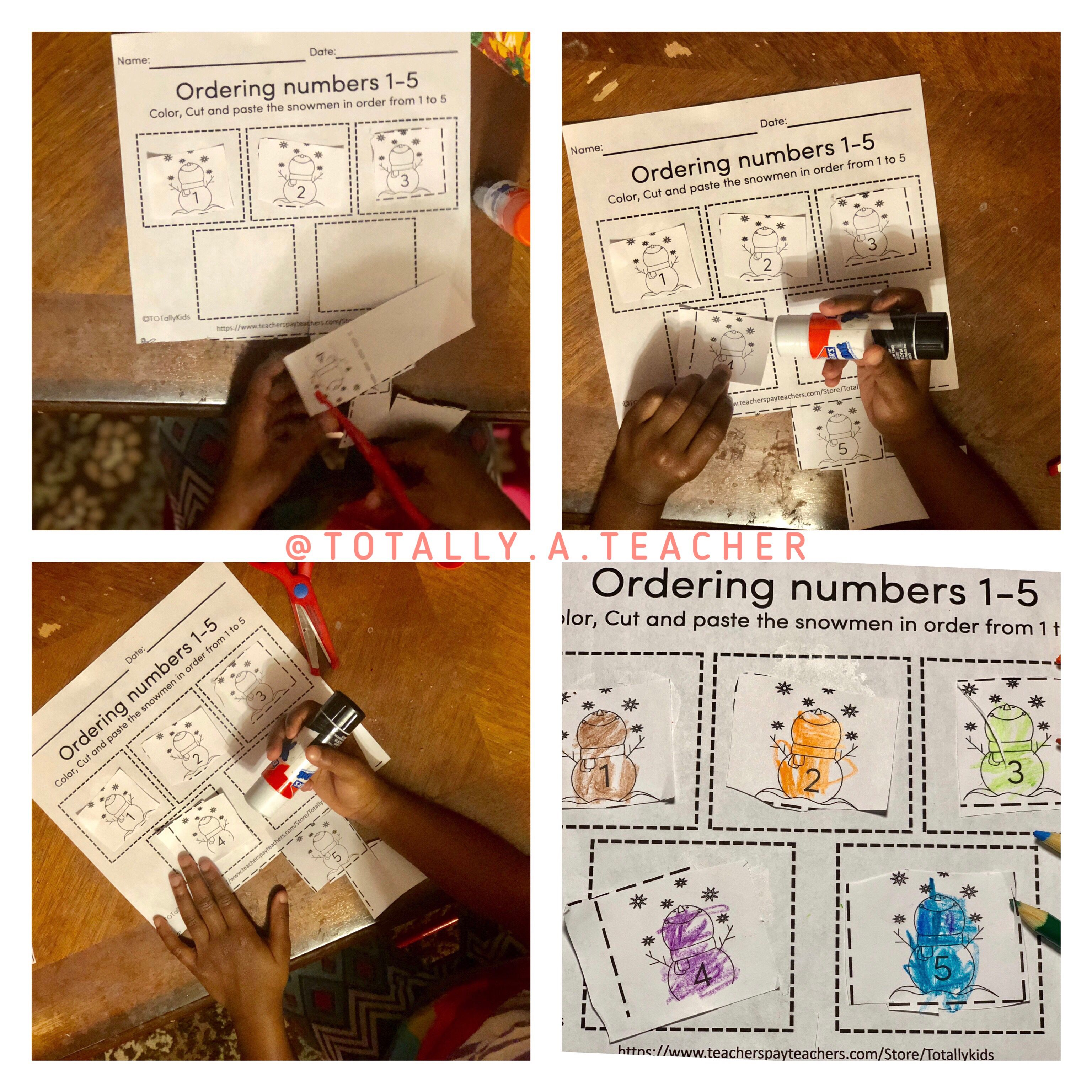 Ordering Numbers 1 5 Winter