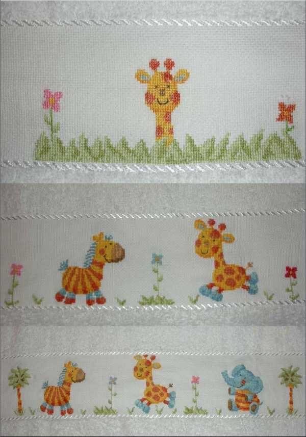 Pin infantiles en punto de cruz if202 dmc toallas motivo on pinterest puntadas pinterest - Cenefas punto de cruz para toallas de bano ...