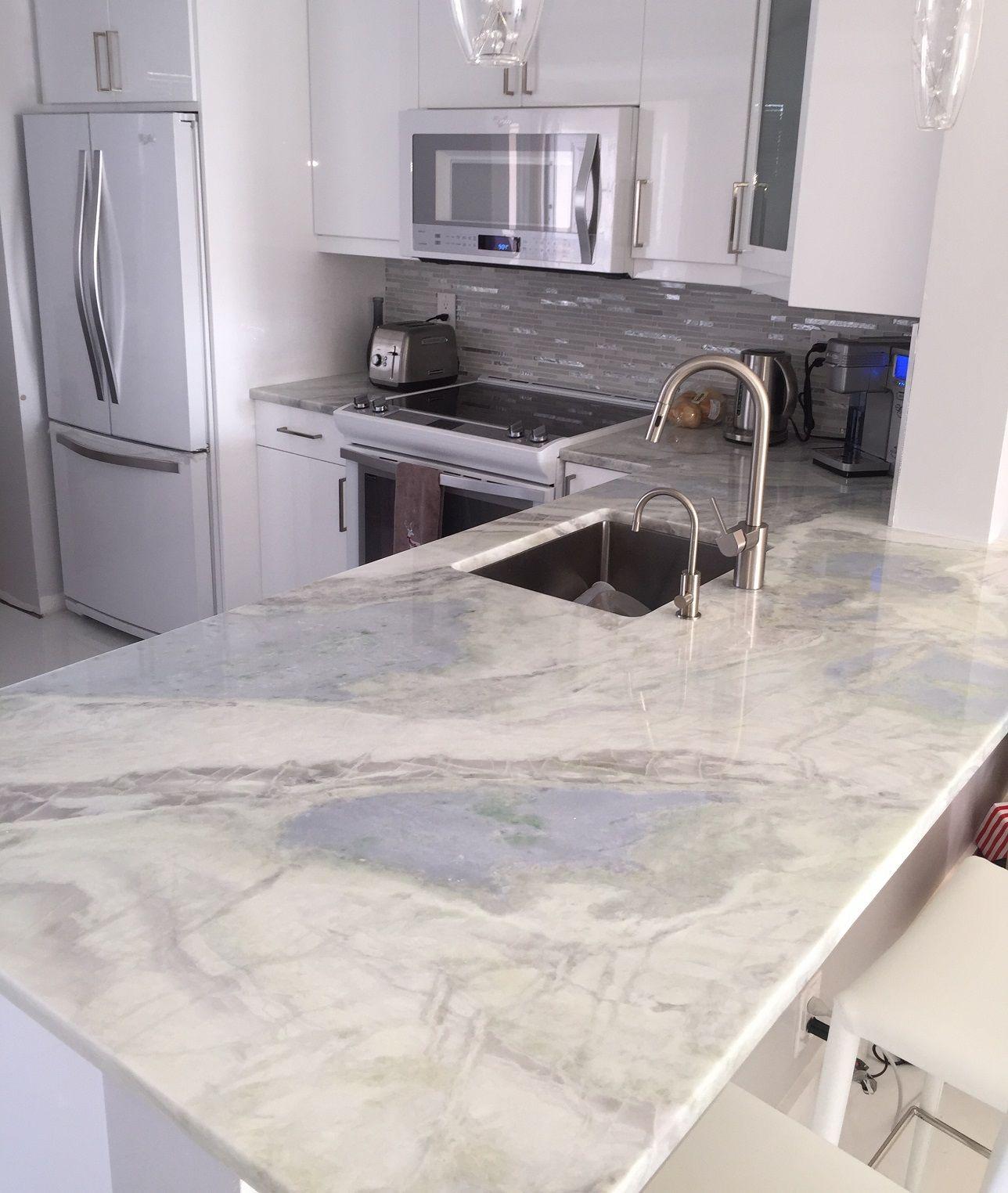 lumen quartzite countertops kitchen in hallandale beach | kitchen