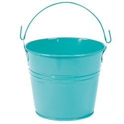 Metal Buckets For Tabletop Flowers Metal Bucket Teal Baby Showers Pail Bucket