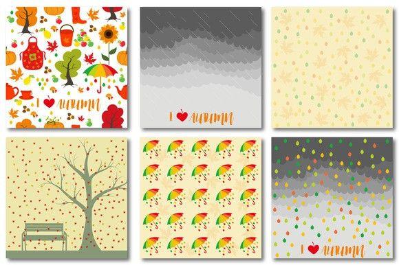 Autumn set of patterns #3. Patterns. $5.00