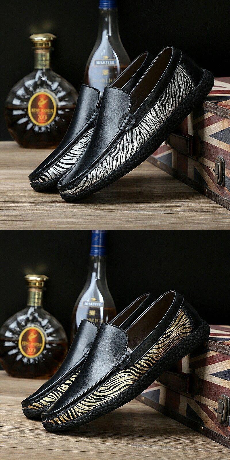 490fbb979e4 US  25.8  Click to buy  Prelesty Light Gold Pattern Men Loafer Classic  Elegant Formal Dress Shoes Light Slip On High Quality  mensloafers