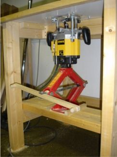 Router lift get woodworking marangoz pinterest Car lift plans