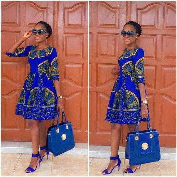 Ankara-Kleid in Afrika von OAKCONSUTING auf Etsy #afrikanischerdruck