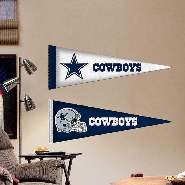 Dallas cowboys pennants fathead jr
