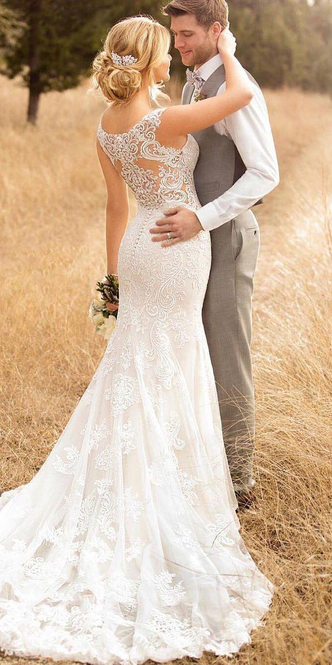 unique lace wedding dresses that wow wedding pinterest