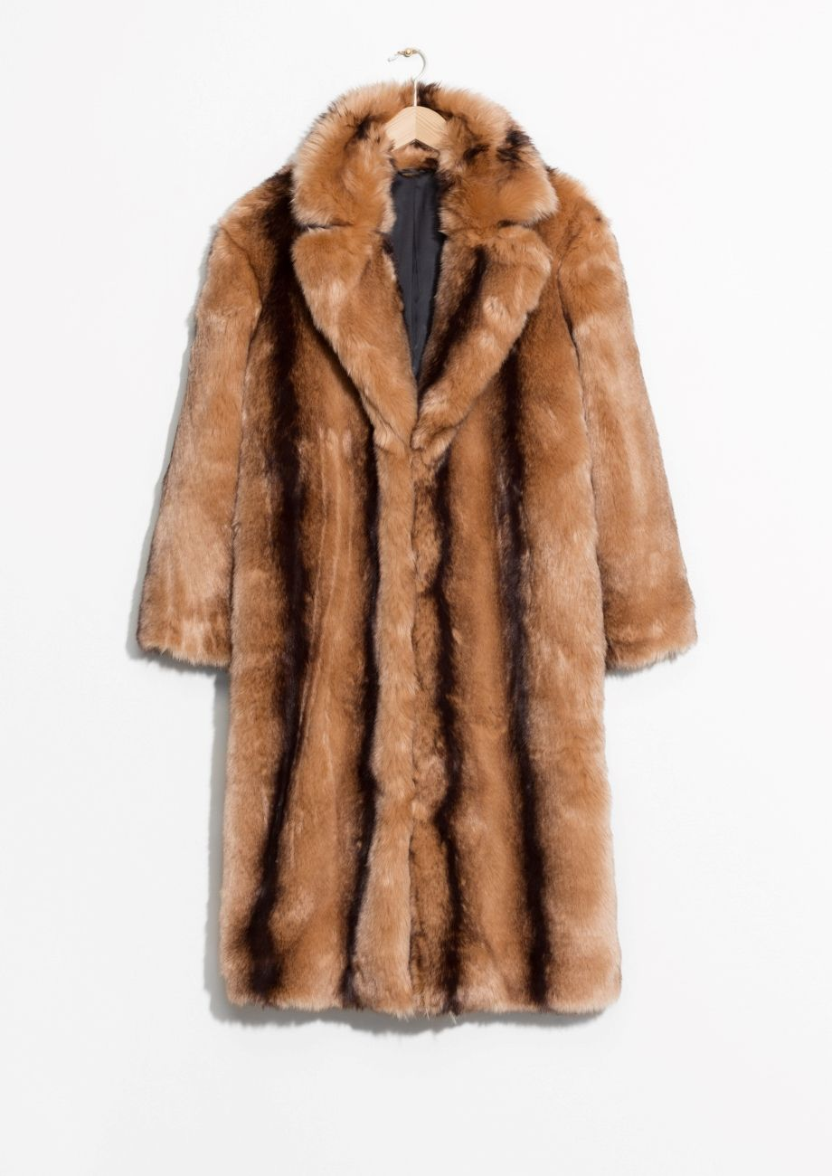 Other Stories Image 2 Of Faux Fur Coat In Brown Faux Fur Coat Fur Coat Long Faux Fur Coat