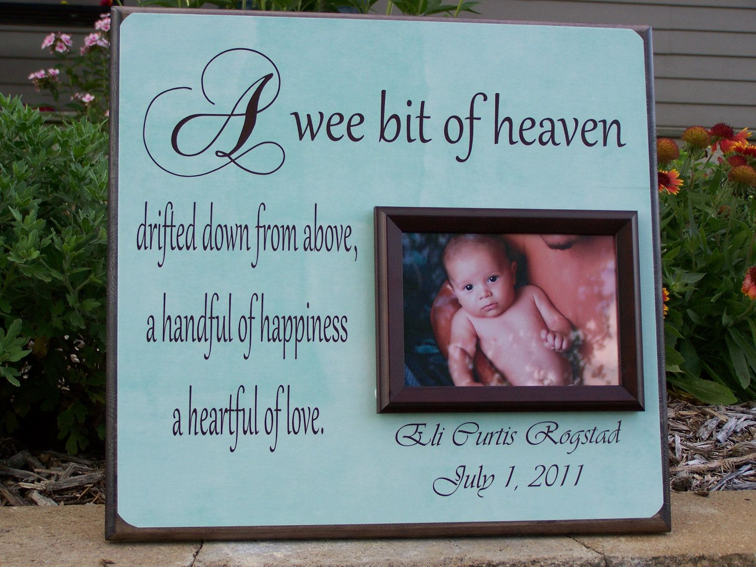 Newborn baby picture frame a wee bit of heaven new birth new newborn baby picture frame a wee bit of heaven new birth new parents jeuxipadfo Images