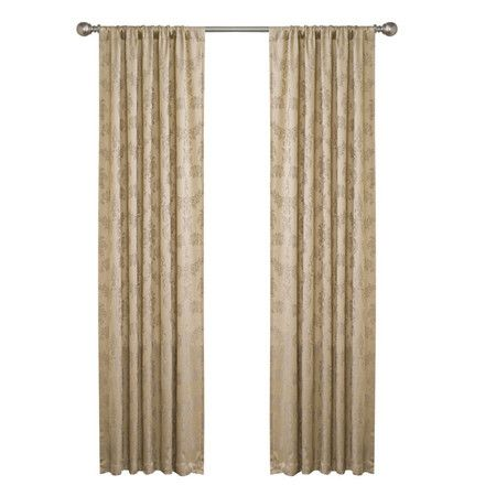 Embossed Jacquard Curtain Panel With A Damask Motif Product