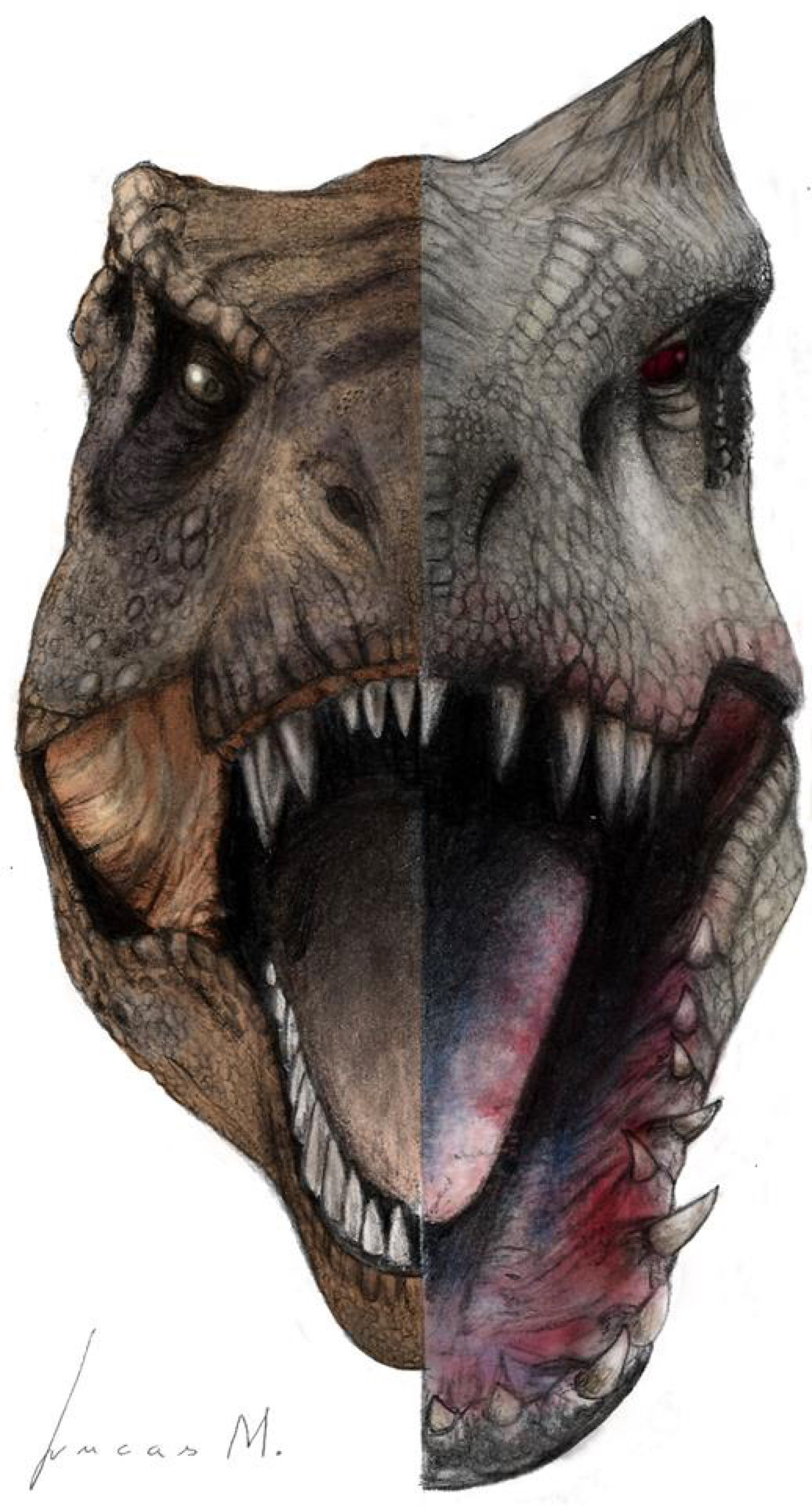Rexy vs IRex color by MateusArts on DeviantArt (With