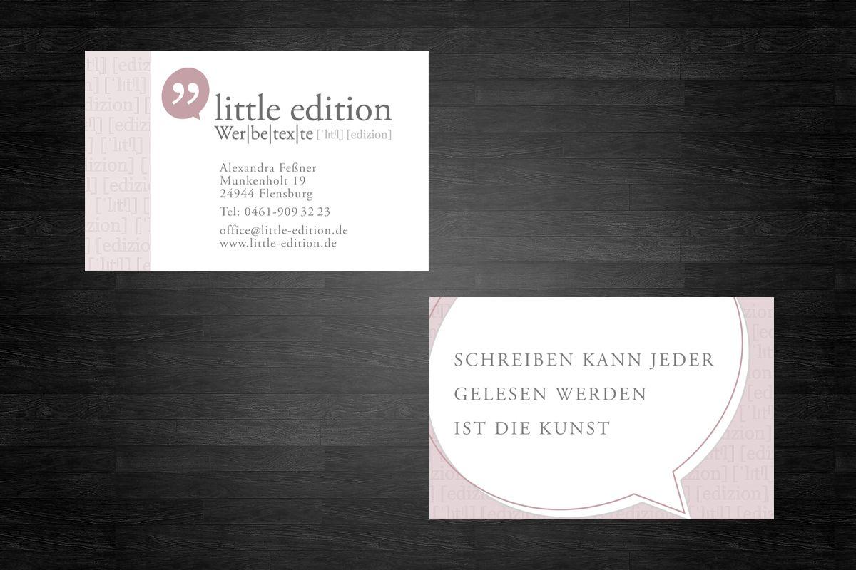 Referenzen: Little-Edition Visitenkarte
