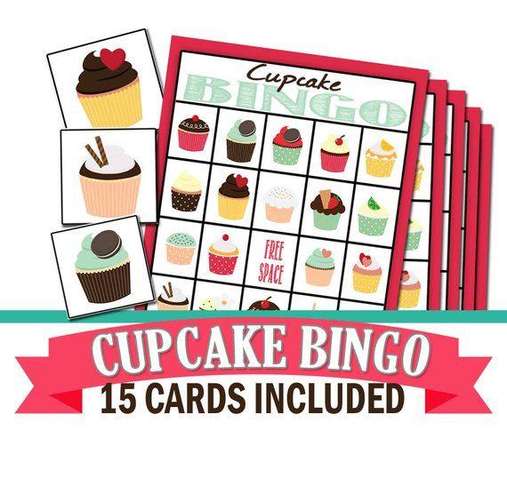 Cupcake Party Bingo Game Cupcake Party Baking Birthday Cupcake