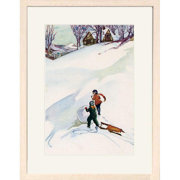 Beginning the Snowman Framed Print
