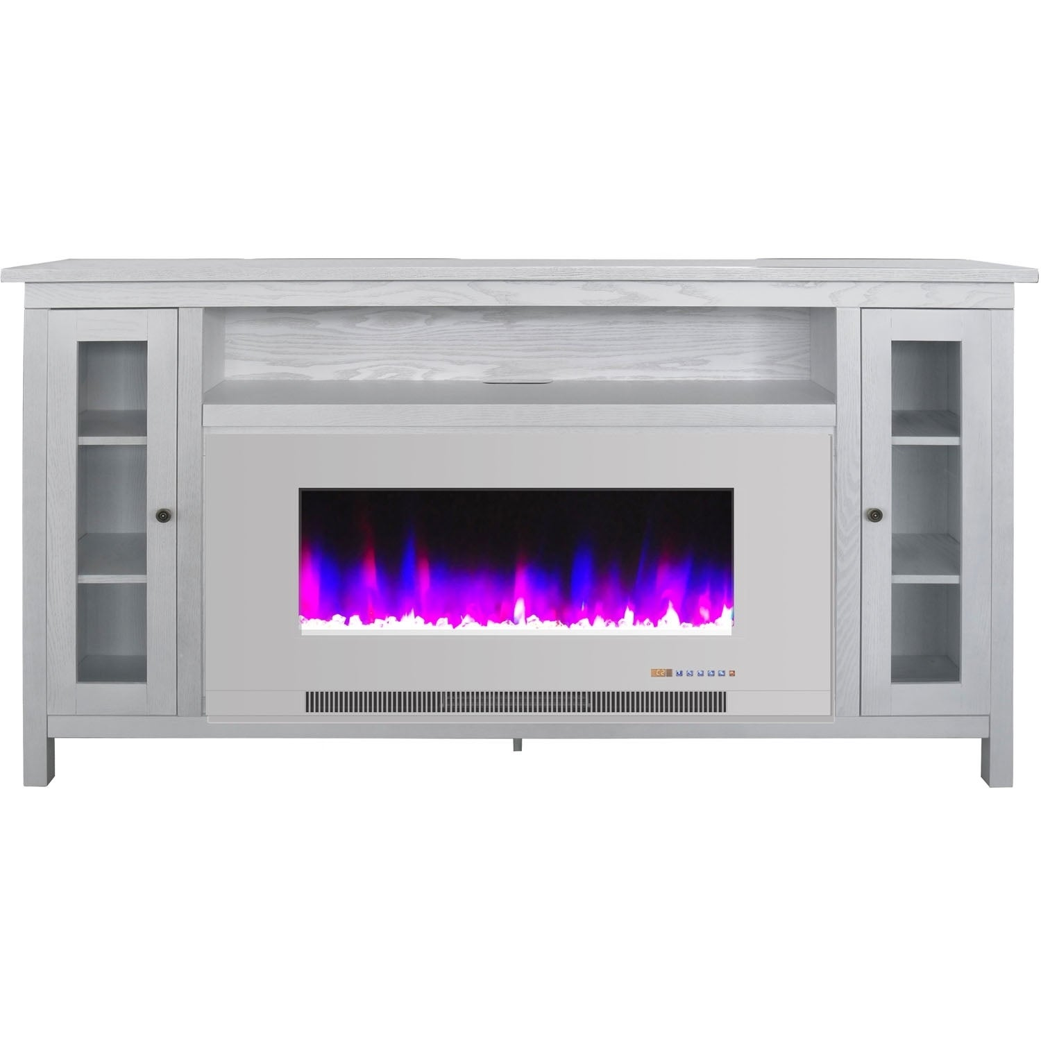 Cambridge Somerset 70 In White Electric Fireplace Tv Stand Wood