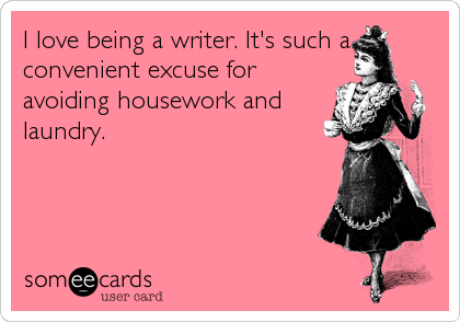 Image result for writers and housework