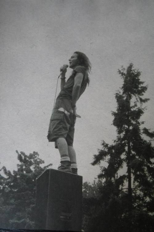 Eddie Vedder...sexier and sexier the older he gets. By the time he's 60 I won't be able to control myself!