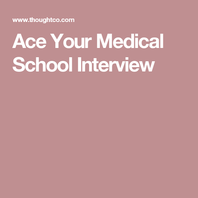 Ace Your Medical School Interview Questions Receptionist Getting Into