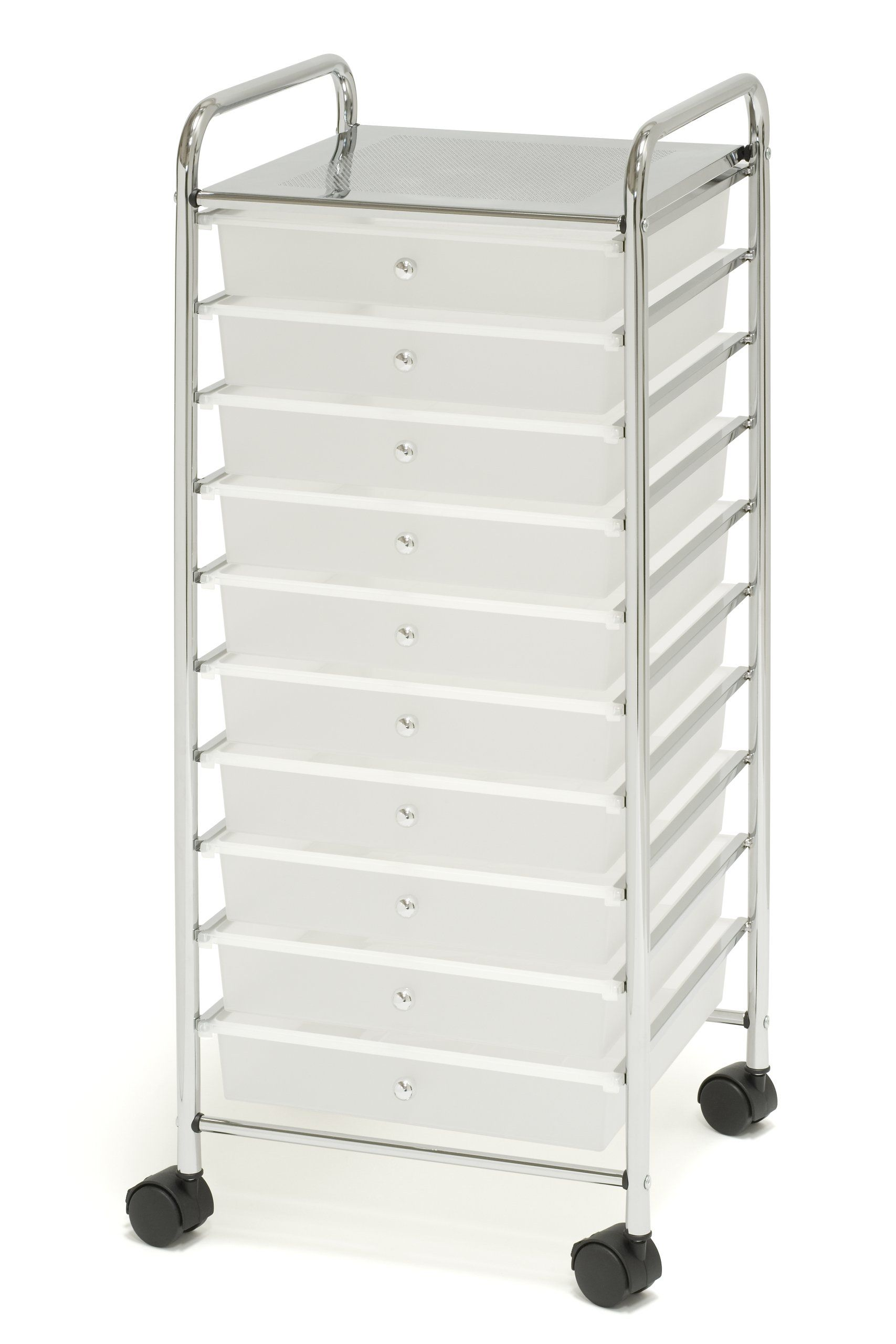 Seville Classics 15 5 Inch By 15 4 Inch By 38 2 Inch 10 Drawer Organizer Cart Drawer Organisers Organization Cart Office Furniture Accessories