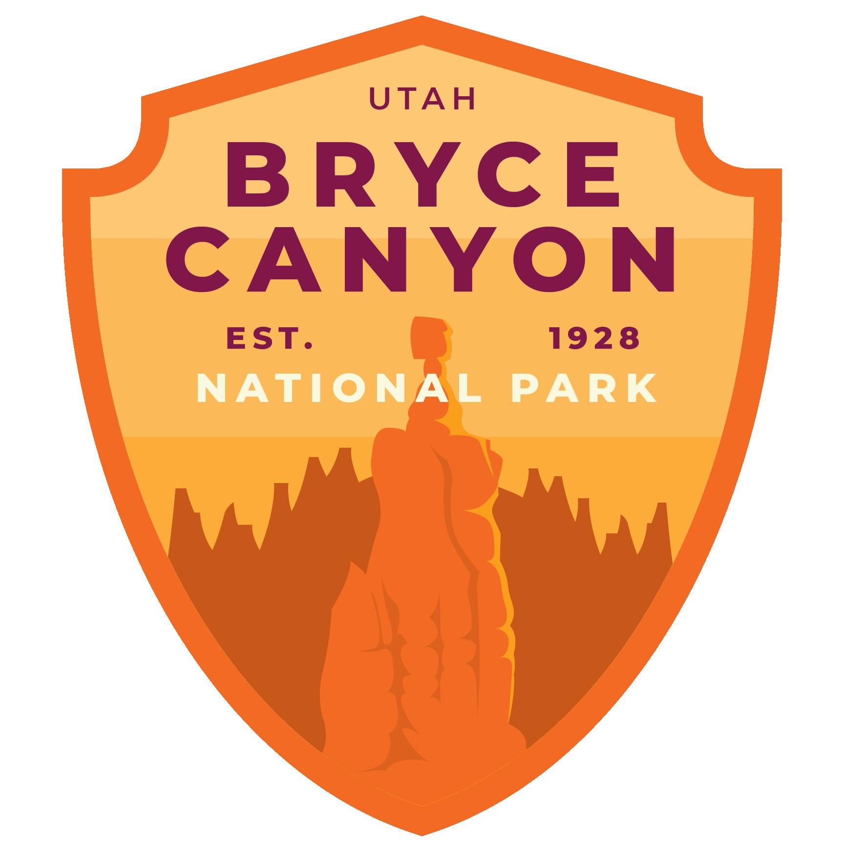 Bryce Canyon Vinyl Sticker Bryce canyon, National park