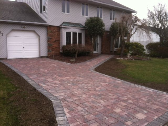 This stunning driveway features Cambridge's new color