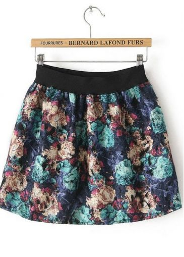 Pastoral Style Vogue Flowers Print Girls Mini Skirt on sale only US$10.07 now, buy cheap Pastoral Style Vogue Flowers Print Girls Mini Skirt at martofchina.com