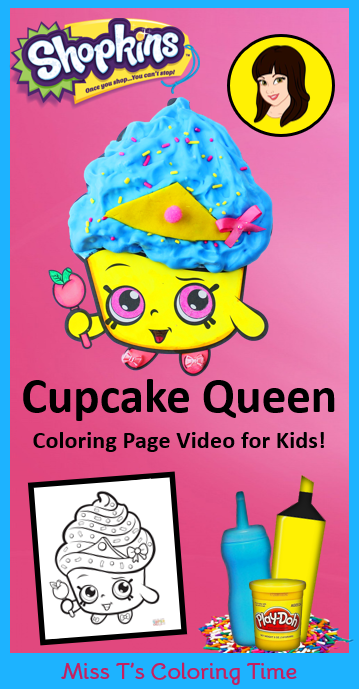 Cupcake Queen Shopkins Coloring Page Video For Kids Parents Do This Coloring Craft With Your Shopkins Colouring Pages Cupcake Queen Shopkins Cupcake Queen