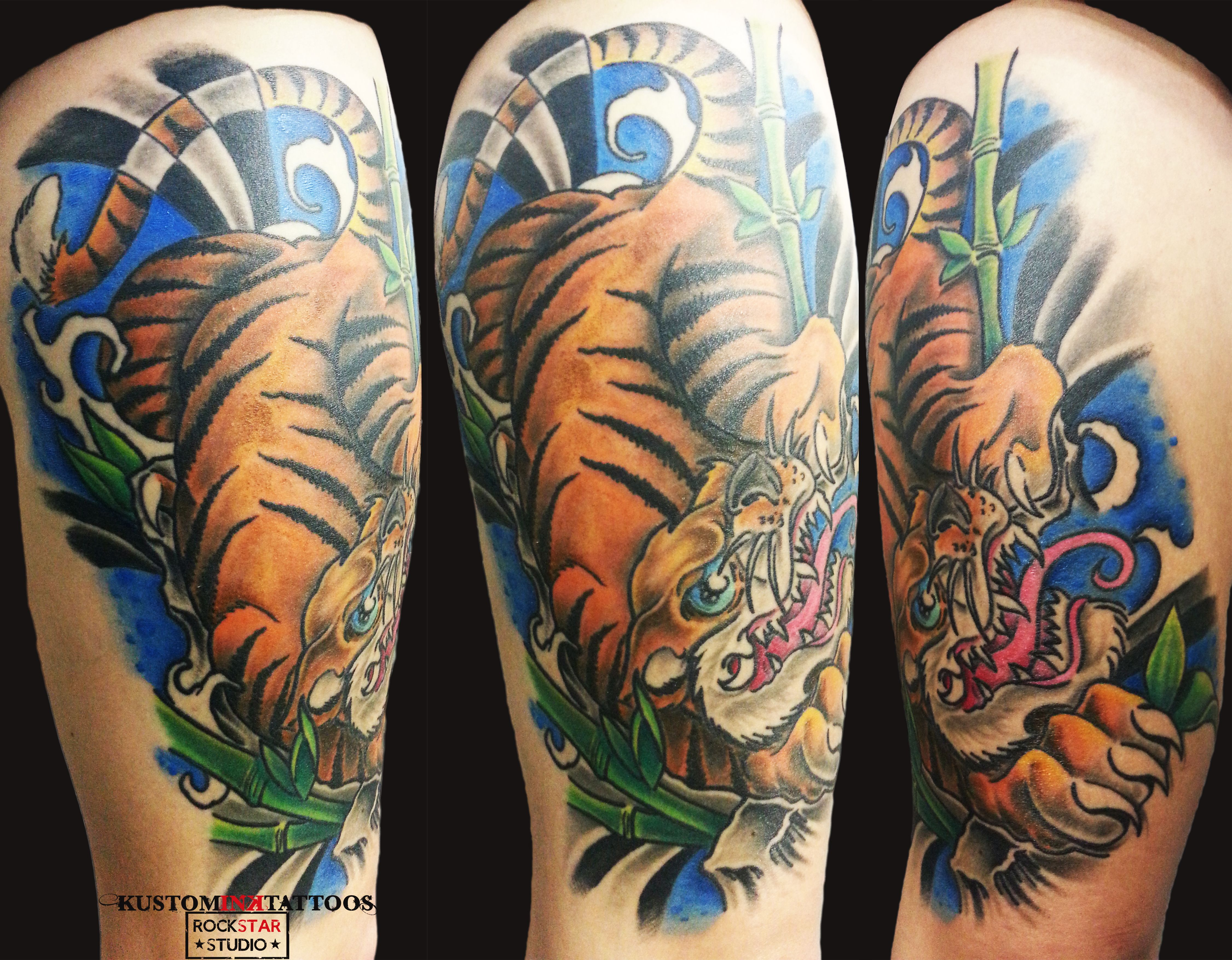 Color in japanese art - Colour Tattoo Japanese Art Tiger