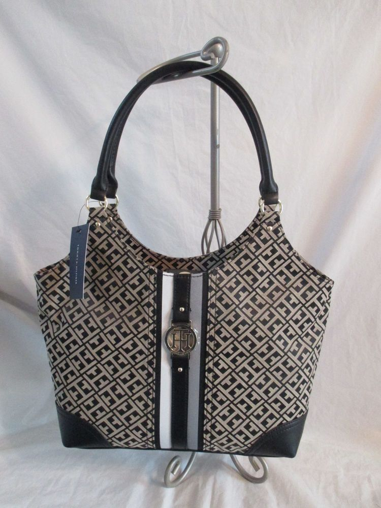 Tommy Hilfiger Handbag Purse Authentic Black Tote 6925769 113 Brand New  with Tag  TommyHilfiger  Tote 1d1ac525ec555