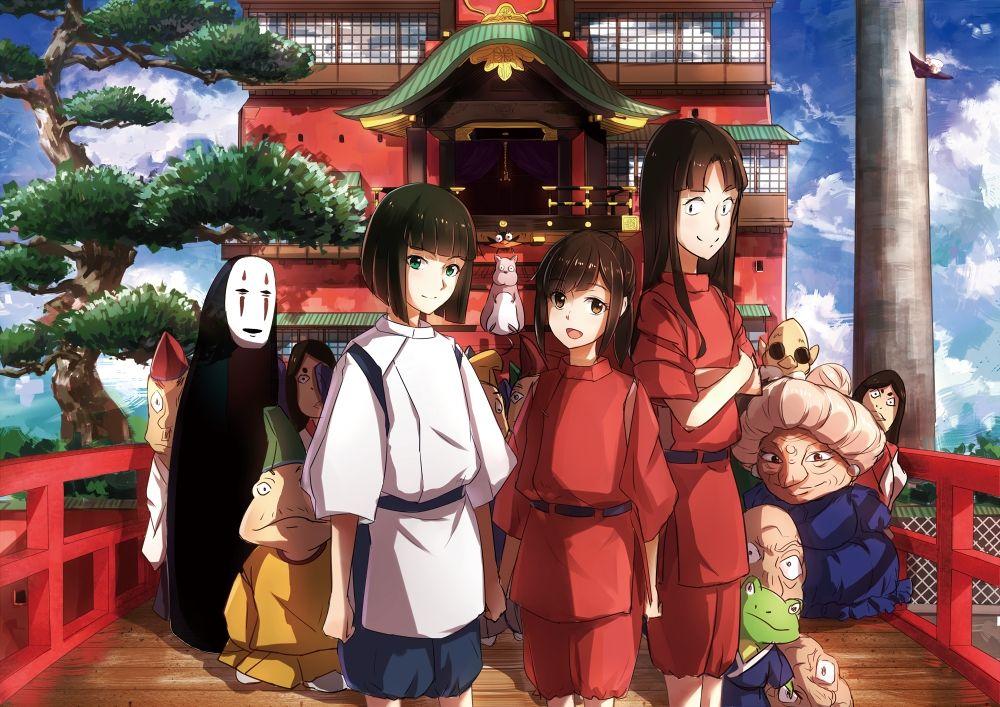 /Spirited Away/#1324421 - Zerochan | Hayao Miyazaki | Studio Ghibli / Ogino Chihiro, Haku, Yubaba, Lin, and No-Face