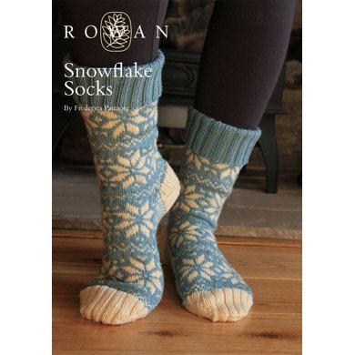 FREE Snowflake Socks in Rowan Pure Wool 4 ply | Knitting Patterns ...