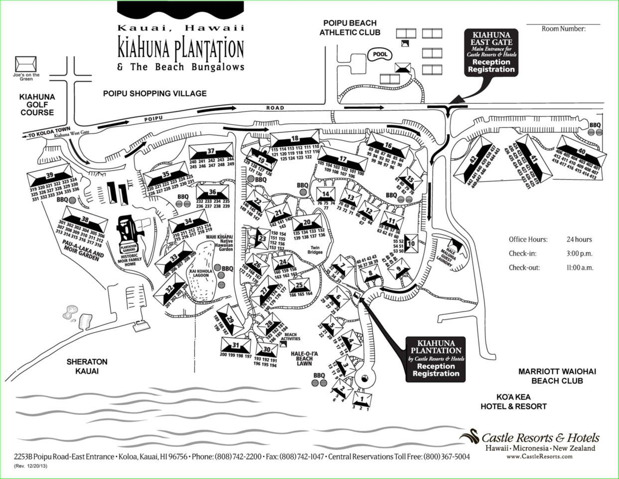 Kiahuna Plantation Map