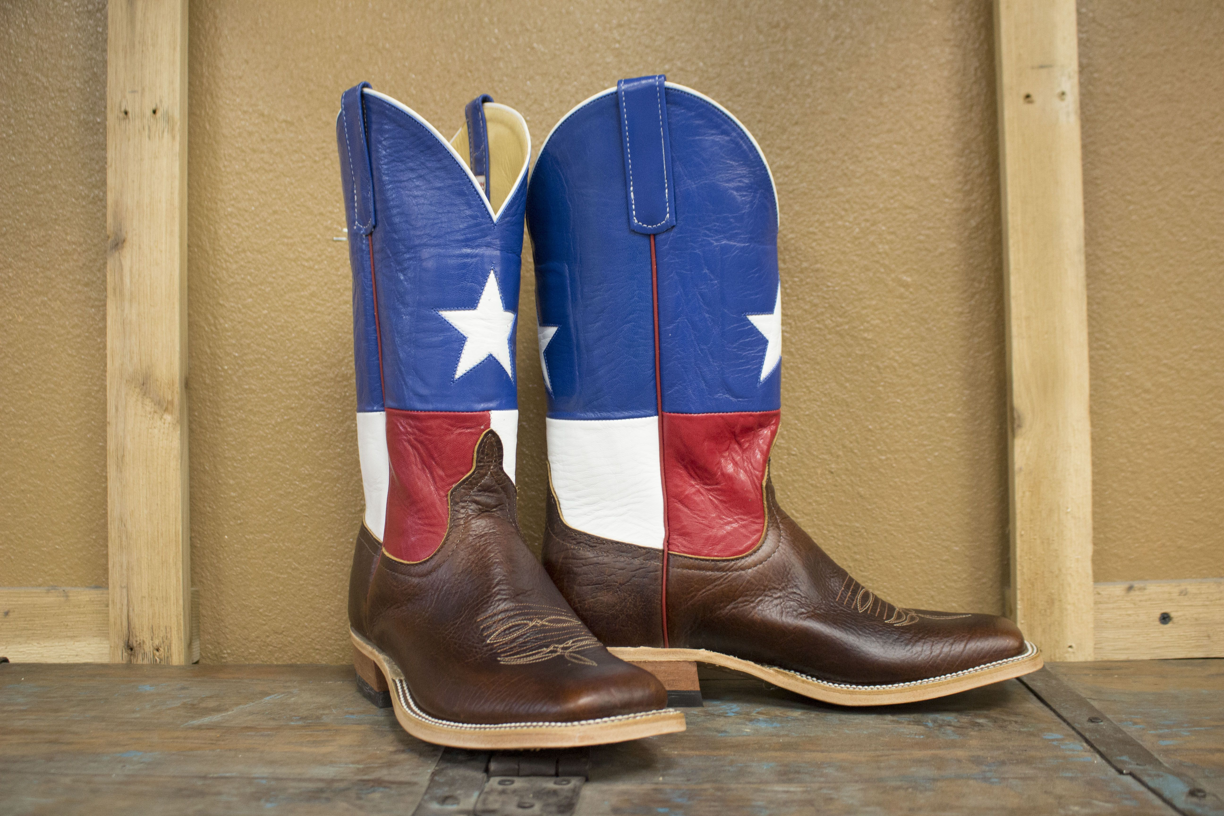 234d4a163e3 Anderson Bean Lone Star Bison Texas Flag Boots in 2019 | Cool Boots ...