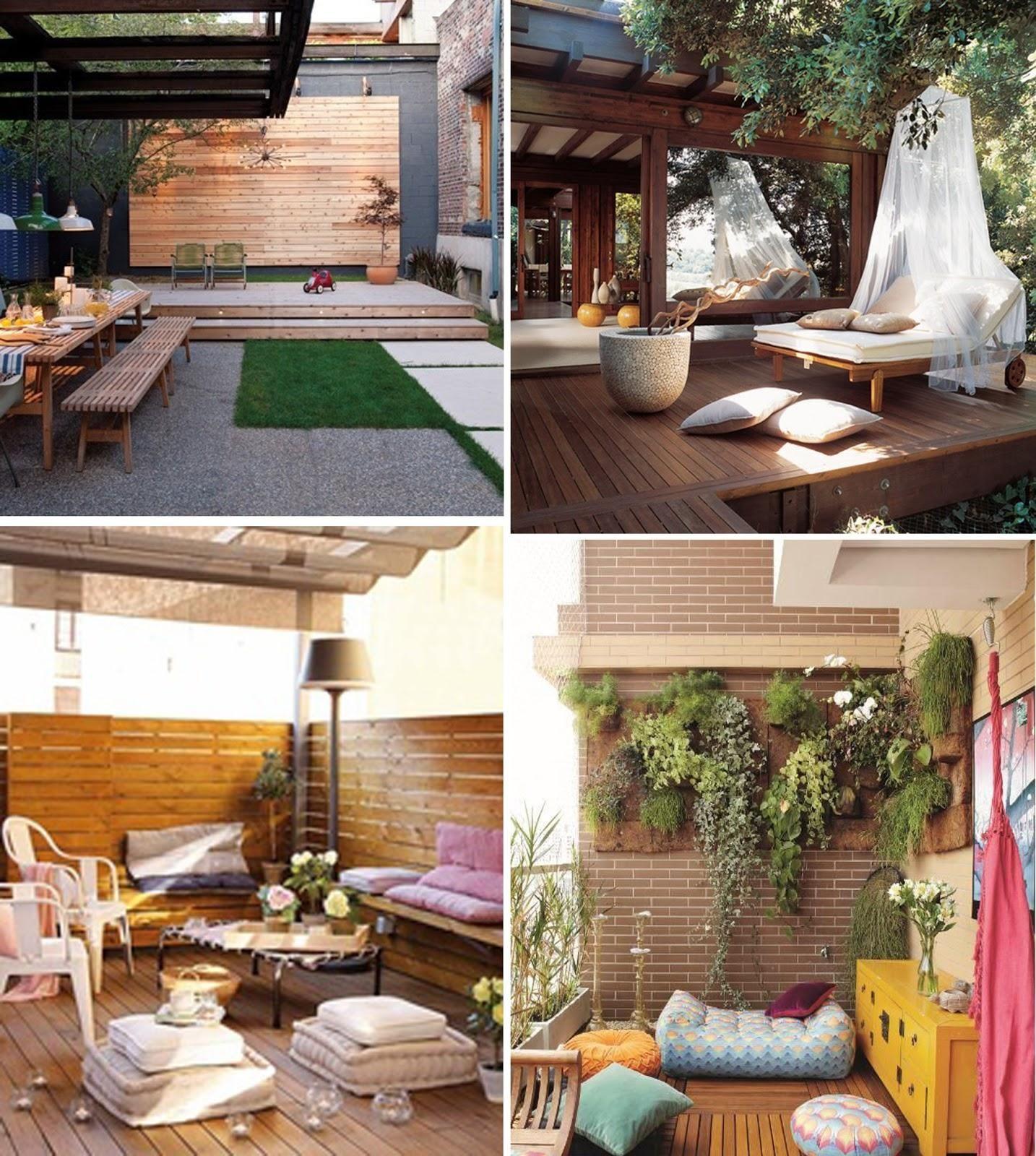 Decoracin jardines y terrazas Pinterest
