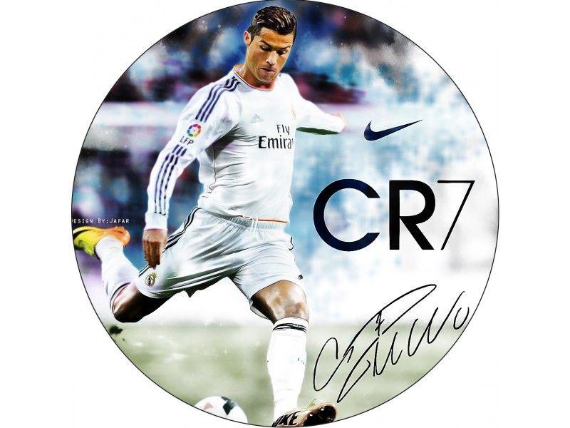 Cristiano Ronaldo Cake Print Real Madrid Approx 20 Cm Ricardo S