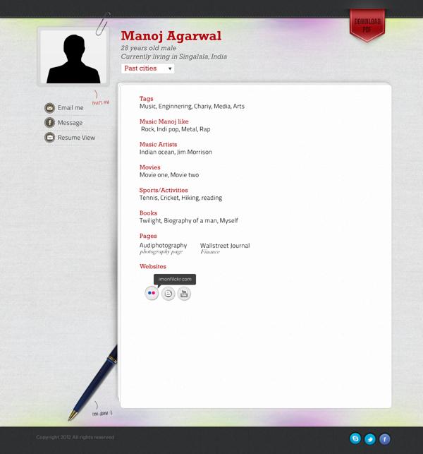 Personal resume by Mohsin Khan, via Behance   Beautiful Webdesigns ...