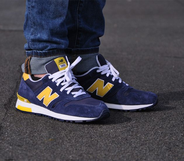 New Balance Sneakers 565 Grey Blue Yellow