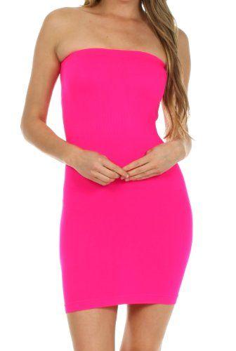 400BT Strapless Stretch Bandeaux Dress - Hot Pink - One Size Sakkas http://www.amazon.com/dp/B00IRMQKMA/ref=cm_sw_r_pi_dp_TwRrub05MA0DF