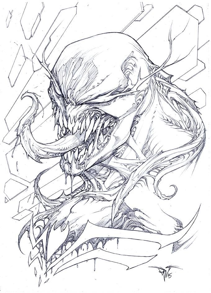 Venom By Paolo Pantalena Marvel Characters Art Comic Style
