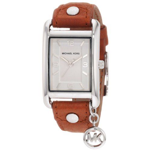 Michael Kors Women's MK2165 Leather Rectangle Charm Watch #MichaelKors