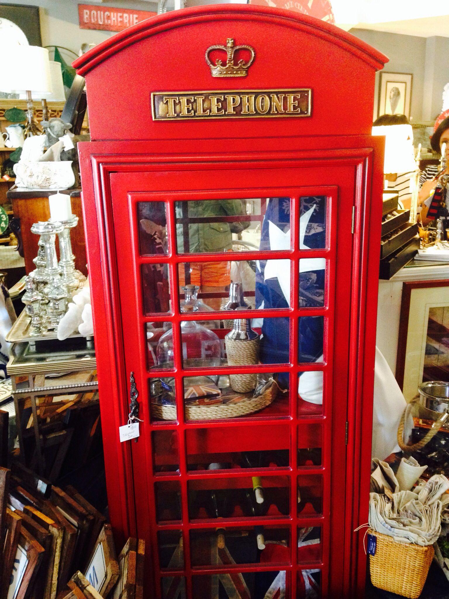 Telephone bar cabinet