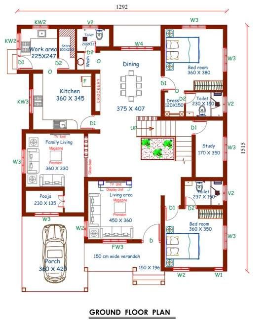 4 Bedroom Stunning Mix Designed Modern Home In 2997sqft Free Plan Free Kerala Home Plans Free House Plans Indian House Plans Courtyard House Plans
